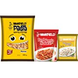 Weikfield Penne Pasta Combo Pack, 500g with Free Red Pasta Sauce, 200g and White Pasta Sauce, 25g