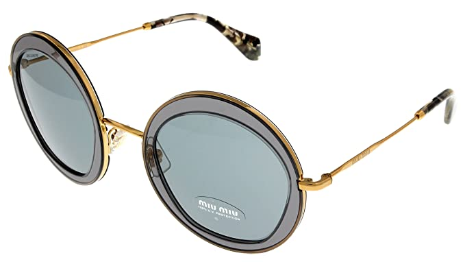f097f969cfa5 Image Unavailable. Image not available for. Color: Miu Miu Sunglasses Women  Transparent Round ...