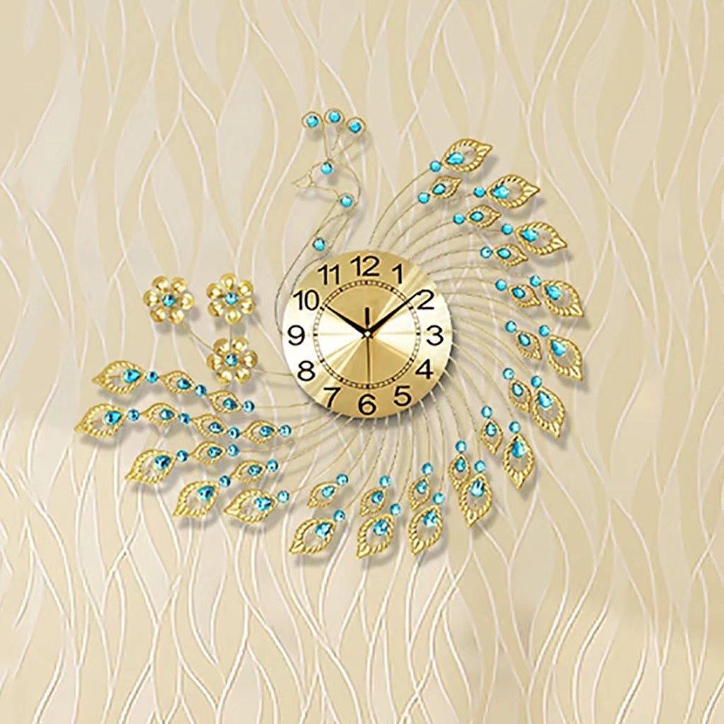 The Peacock Clock Clock Clock European Modern Minimalist Living Room Decoration Personality Ultra Quiet Luminous Quartz Clock