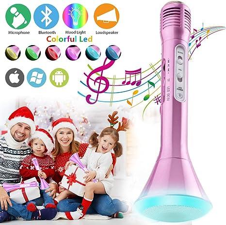 Micrófono Inalámbrico Karaoke Bluetooth Niños con Altavoz Portátil ...