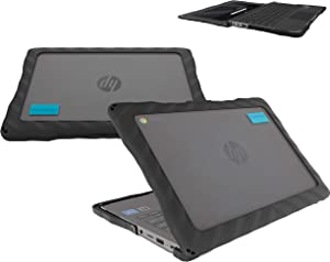 GumDrop DropTech Case Designed for HP Chromebook 11 G7 EE Device Laptop for Students, Teachers, Kids - Black, Rugged, Shock Absorbing, Extreme Drop Protection