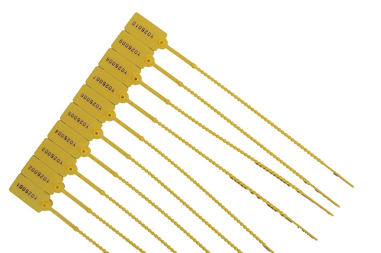 sigillo antimanomissione 100 x Sigilli di sicurezza realizzati in plastica GIALLO