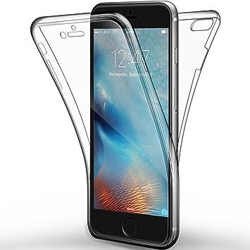 iPhone 6s Plus / 6 Plus Funda, Leathlux Cover iPhone 6s Plus Gel Silicona Carcasa Transparente TPU full Protección Delanteros y Traseros Case para ...