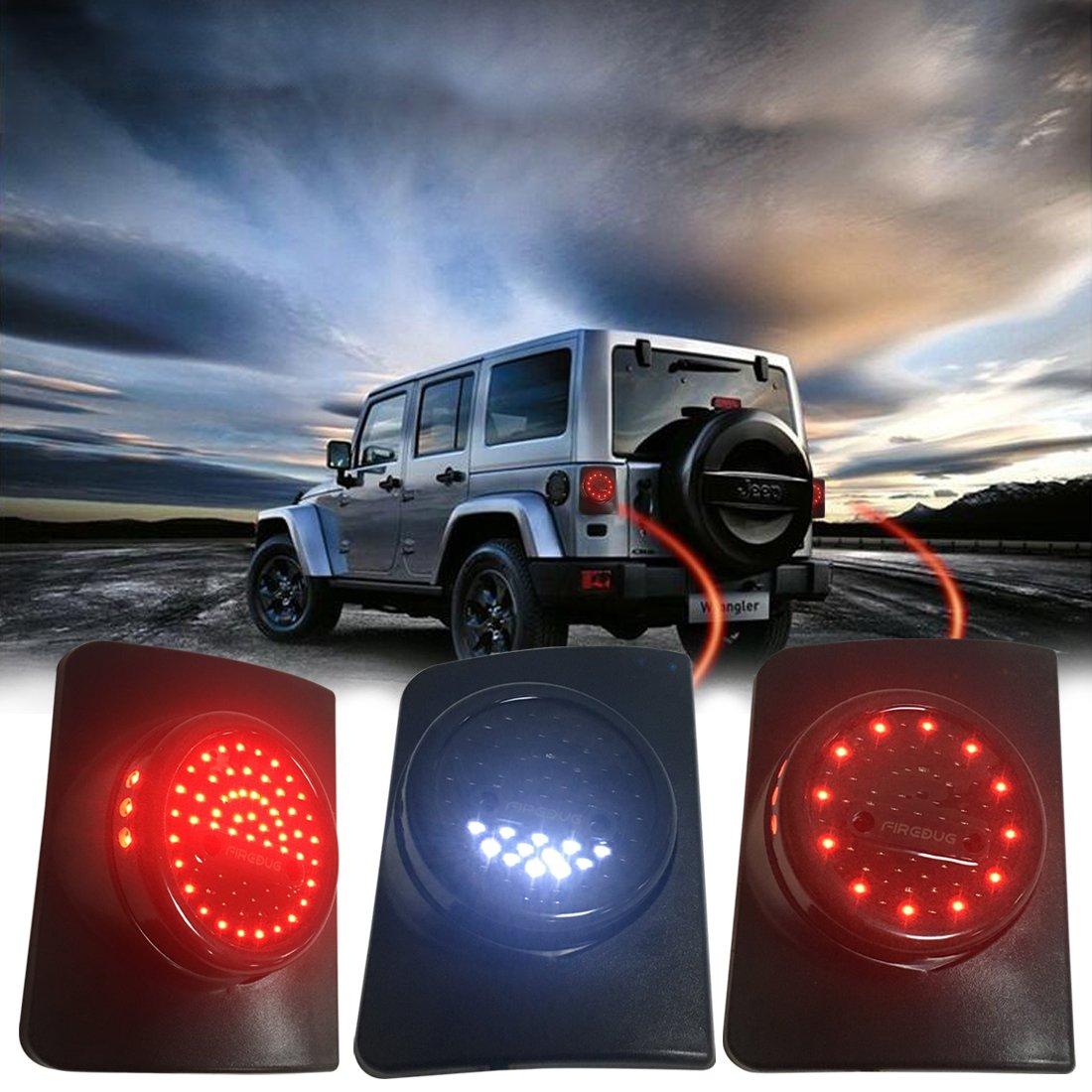 Amazon.com: Firebug Jeep Wrangler Rear LED Lights, Jeep Wrangler LED Tail  Lights, with LED Brake Lights Turn Signal Lights Back Up and Reverse Lights  for JK ...