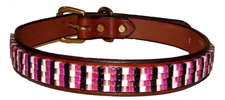 Just Fur Fun Dog Collar, Fashionista, 24-Inch, Brown Leather