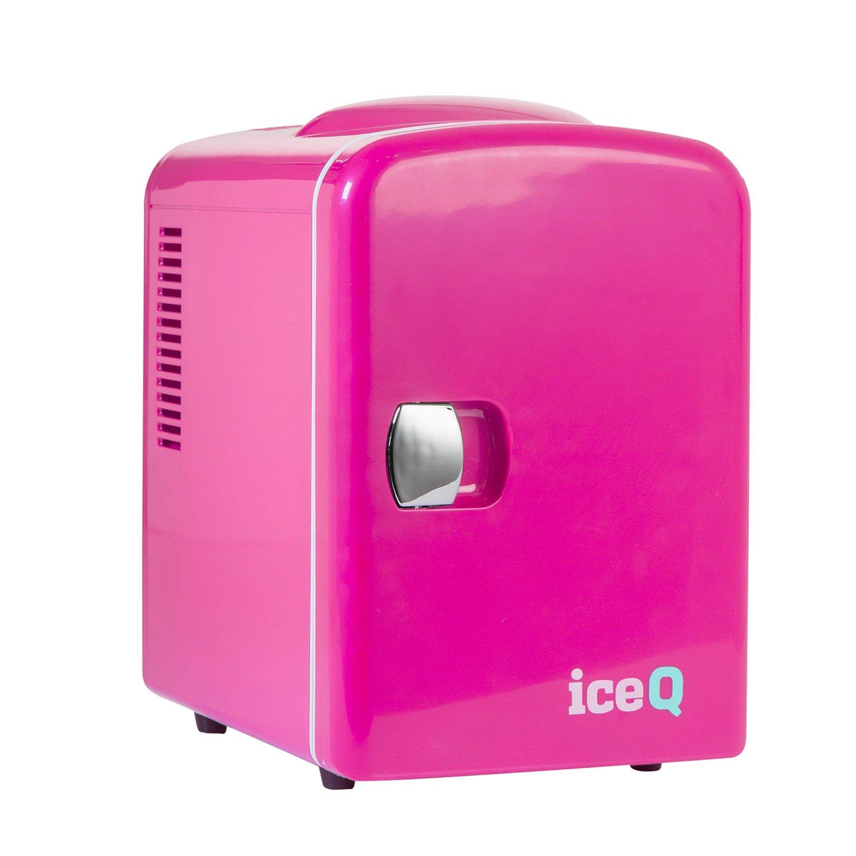 iceQ 4 Litre Small Mini Fridge Cooler - Pink ICEQ4P