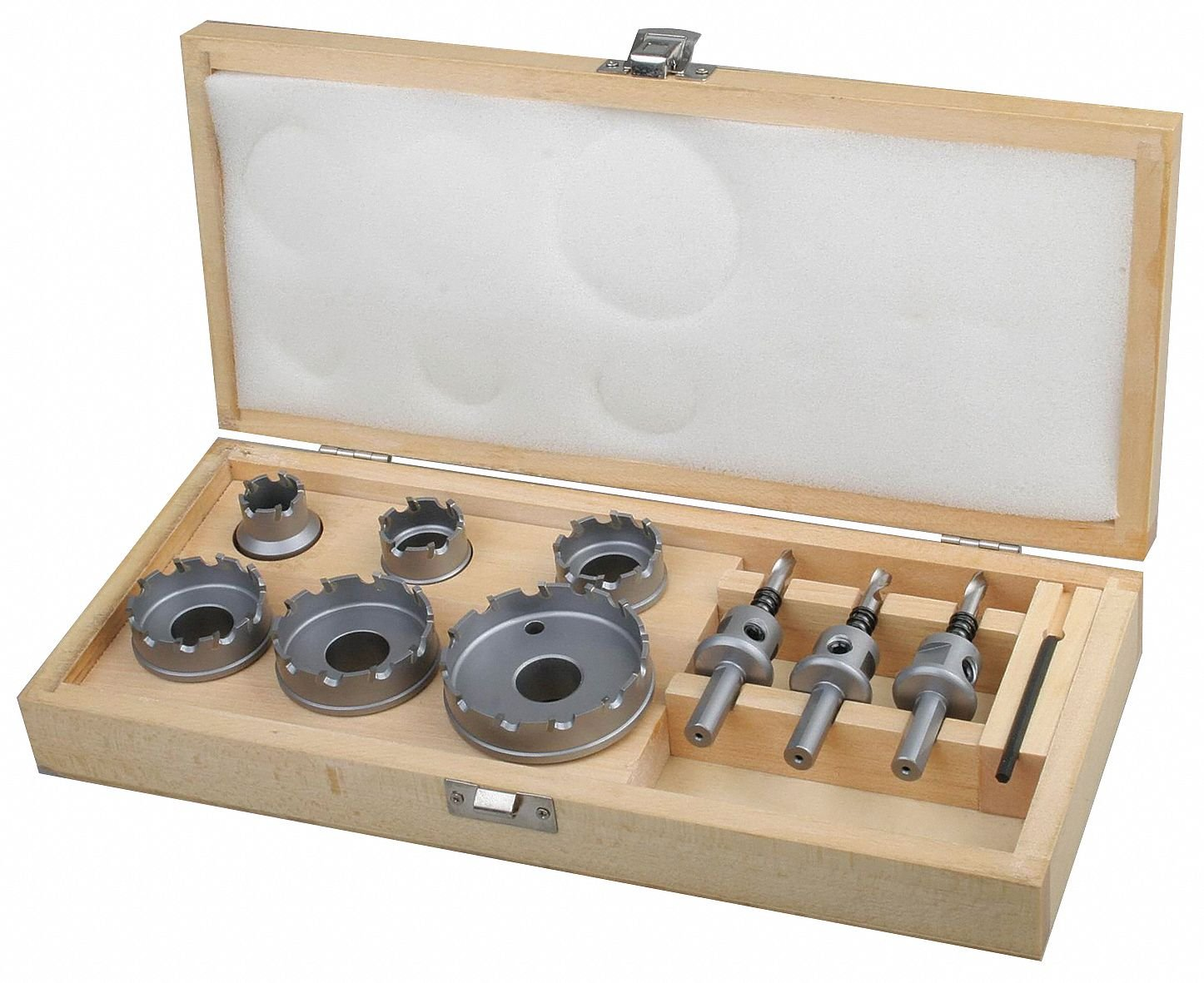 10-Piece Locksmiths Hole Saw Kit for Metal, Range of Saw Sizes: 7/8'' to 2-1/2''