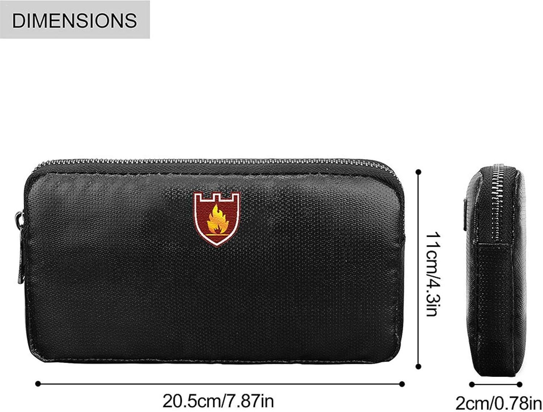 Aufbewahrungstasche mit zwei Taschen Feuerfeste Geldbeutel 34,9 x 26,7 cm Dokumententresor f/ür Zuh... feuerfeste Dokumentensichertasche wasserdicht