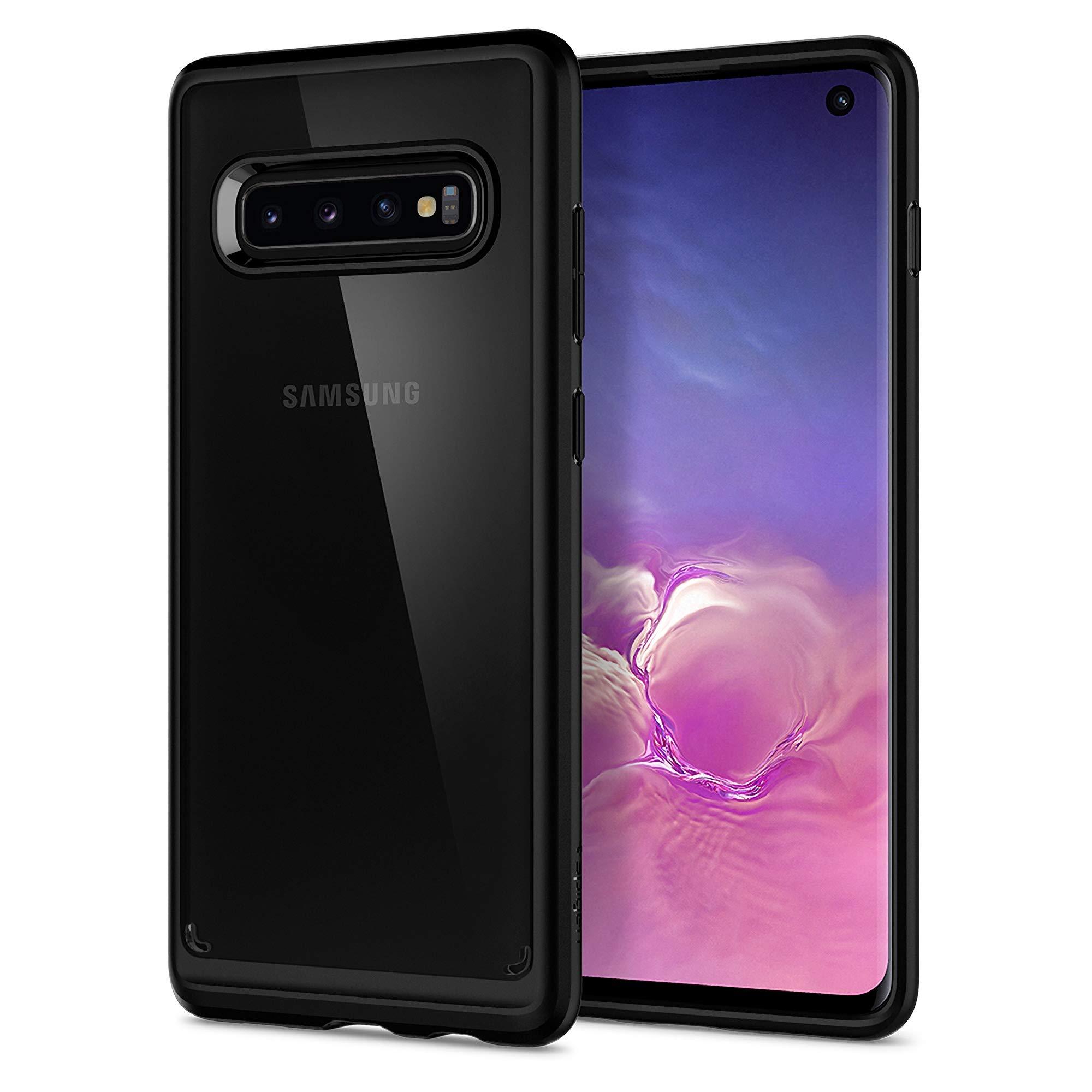 Funda Spigen Samsung S10 [matte Black] Ultra Hybrid