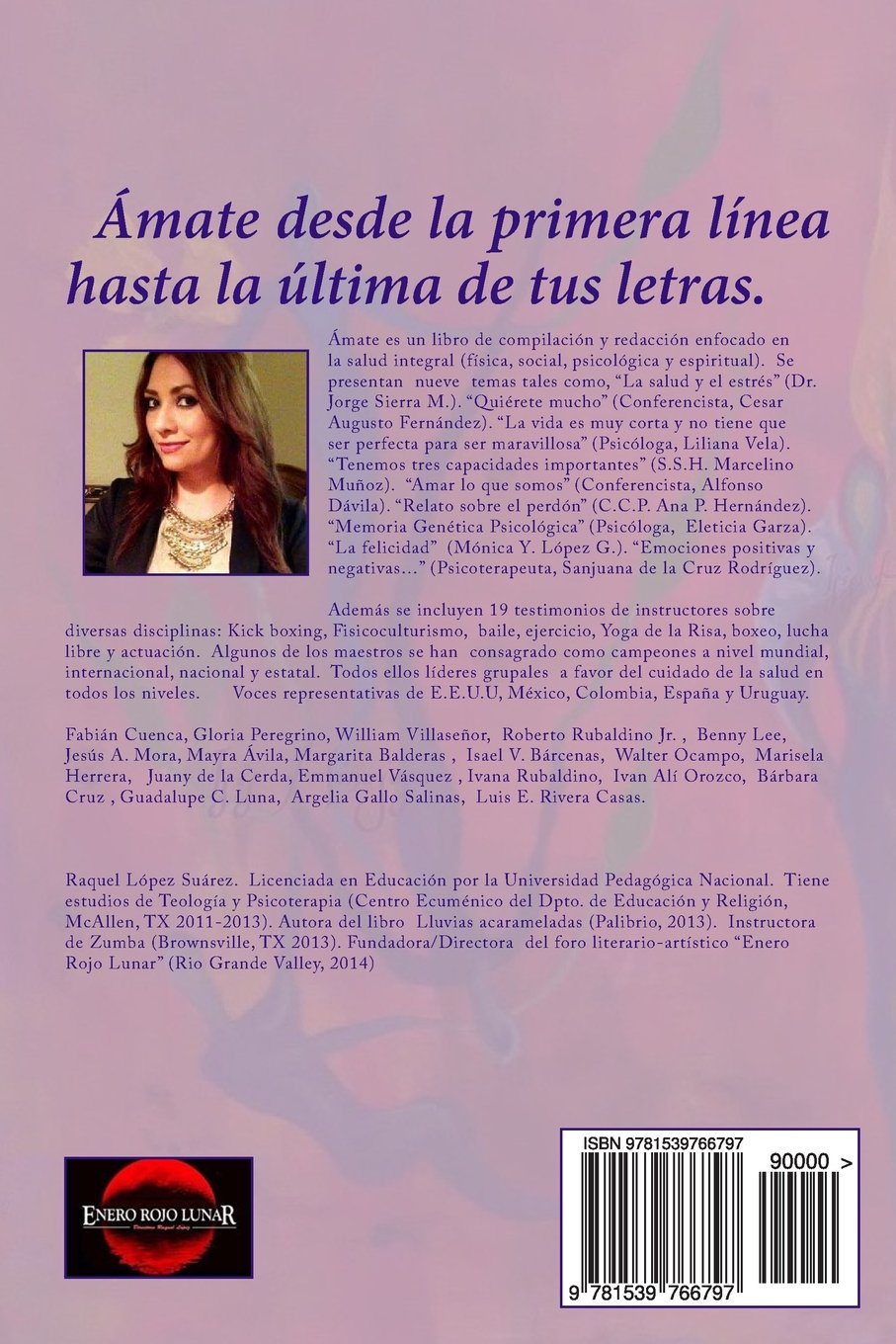 Amate: Salud Integral (spanish Edition): Raquel Lopez Suarez:  9781539766797: Amazon: Books