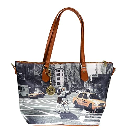 Y NOT  - Borsa donna shopper con manici tracolla shopping media new york  walk in n.y.  Amazon.it  Scarpe e borse 818b0361e38