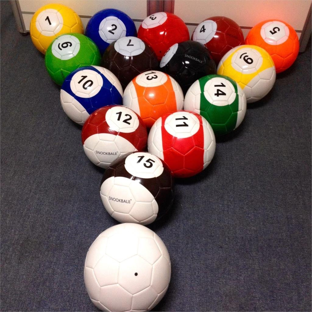 3# 16 Pcs Gaint Snooker Soccer Snook Ball 7 Inch In Snookball Game Huge Billiards Pool Football Include Air Pump Toy Poolball 3#, A