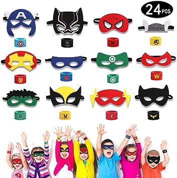 Amazon.com: HXDZFX - 24 máscaras de superhéroe y pulsera de ...