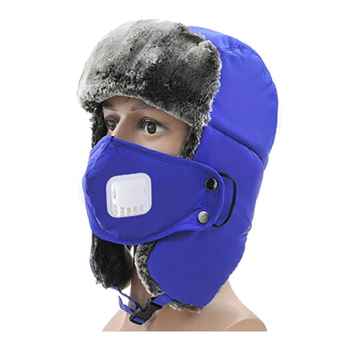 04d9d79b45c Winter Trapper Hat with Breathing Valve Russian Ushanka Trooper Aviator  Bomber Cap for Women Men Kid Children  Amazon.ca  Clothing   Accessories