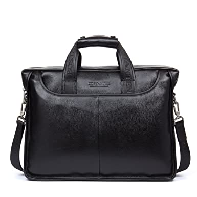 Amazon.com | BOSTANTEN Leather Briefcase Laptop Handbag Messenger ...