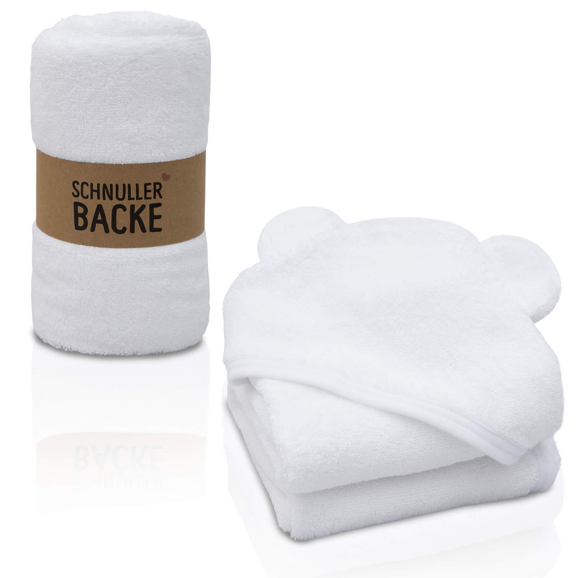 Handtuchset Mini 1 Baumwolle Weiss Kaputzentuch Gästetuch Baby Erstausstattung