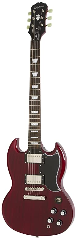 Epiphone G-400 Pro Electric Guitar with Coil-Splitting, Right Handed, Guitar, Cherry Red
