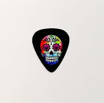 Púas para guitarra personalizada púa negro diseño de calavera cuerdas bajo pedido De plástico instrumento Musical