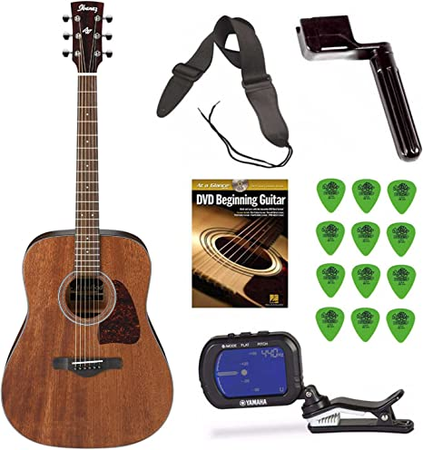Ibanez aw54opn Artwood Dreadnought Guitarra Acústica + free DVD ...