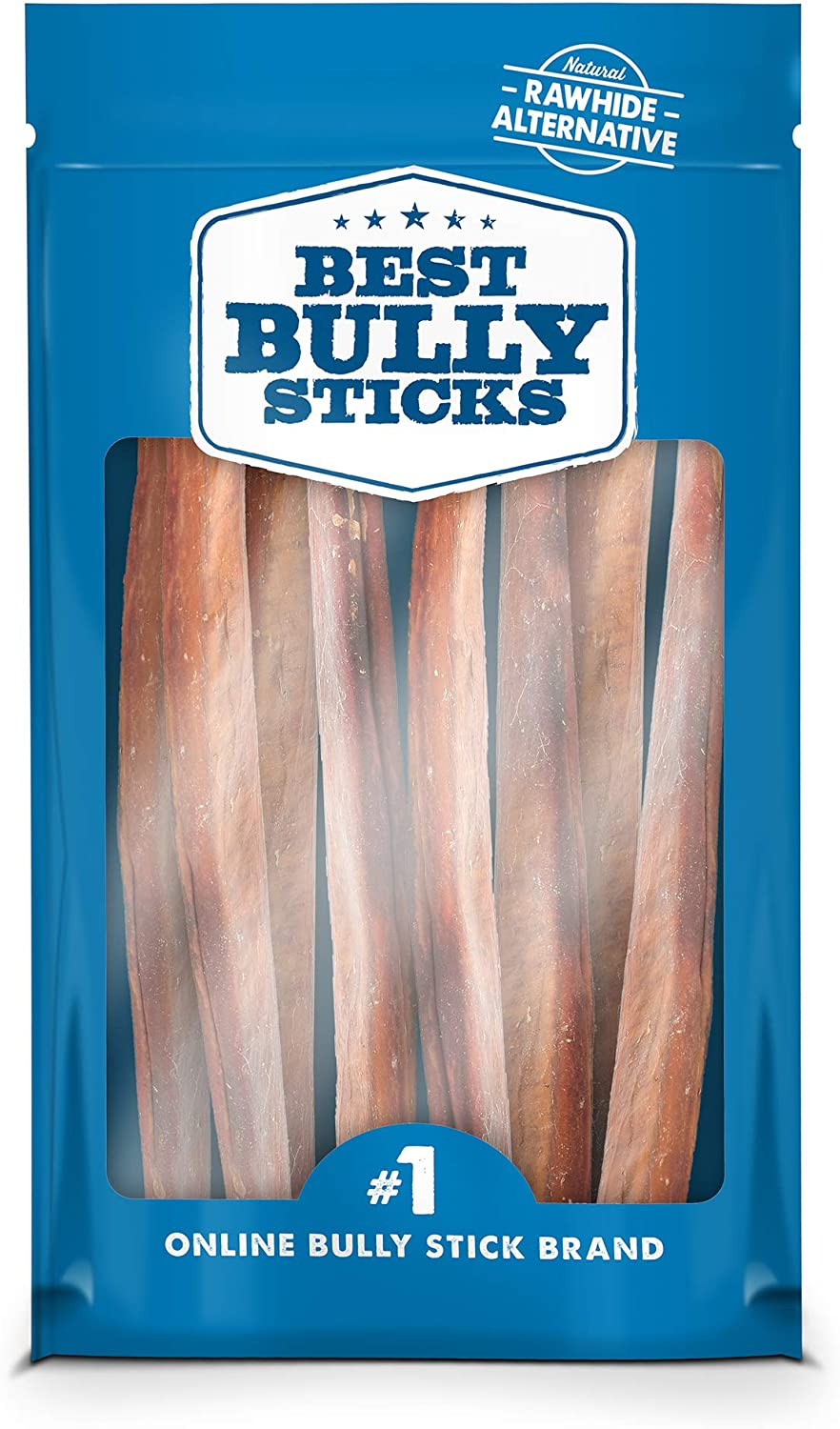 Best Bully Sticks Premium 12-Inch Jumbo Bully Sticks – All-Natural, Free-Range, Grass-Fed, 100 Beef Single-Ingredient Dog Chews