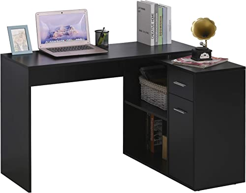 HOMCOM L Shaped Computer Desk Workstation