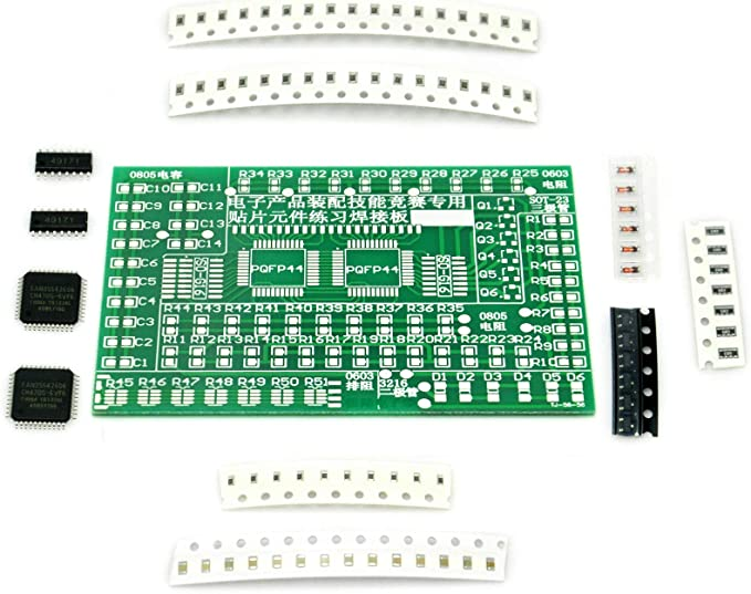 DIY Electronics 9 Projects Kit Soldering Practice SMD SMT Circuit Board Builds