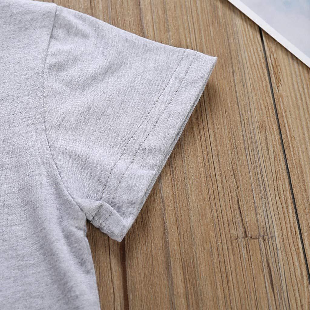 Pantalones Cortos Conjunto 2 pcs Traje Deportivo de beb/é ni/ño de 1 a 6 A/ño Soupliebe Conjuntos Bebe Ni/ño Verano Reborn Bebes ni/ño Trajes Ropa Estampado de Dibujos Animados Camiseta Tops