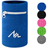NEWZILL Wrist Wallet (Wristband) with Zipper - for Running, Walking, Basketball, Tennis, Hiking, Cross-Fit and More