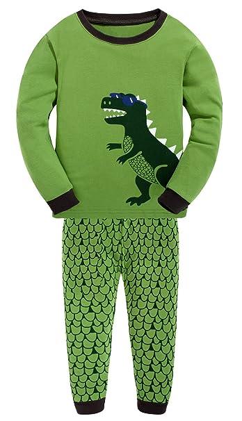 Amazon.com: Pijamas Set de los niños 100% algodón ropa ...
