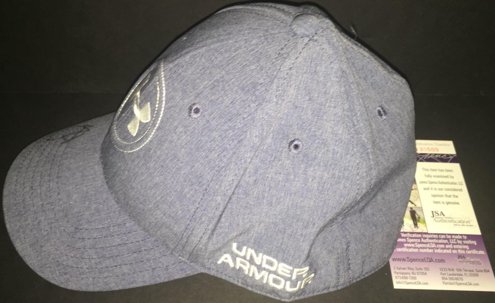 Autographed Jordan Spieth Signed Under Armour Hat Cap Pga 1 JSA Certified