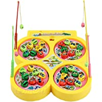 Webby Kids Choice Fishing Fish Catching Game with 32 Pcs of Fish,4 Pods(Assorted Color)