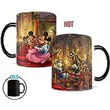 Morphing Mugs Thomas Kinkade Mickey and Minnie in Hollywood Heat Reveal Ceramic Coffee Mug - 11 Ounces