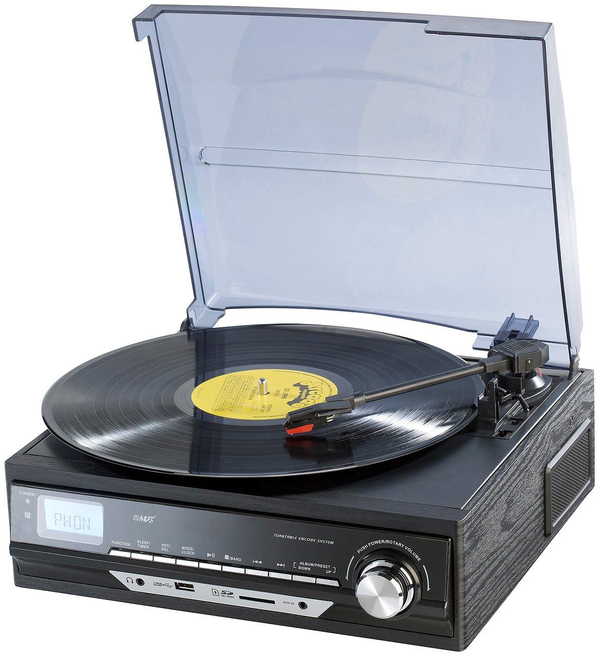 Auvisio UPL-850.MP3 - Tocadiscos (salida USB, radio ...