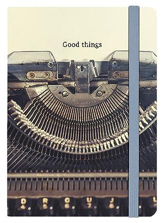 80447 Cuaderno Máquina de escribir, también como Diario Adecuado, DIN A5, con rayas, 160 páginas: Amazon.es: Oficina y papelería