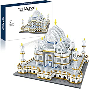 Architecture Collection: Taj Mahal 3950 pcs Building Set Model Kit and Gift for Adults and Kids ,Micro Block