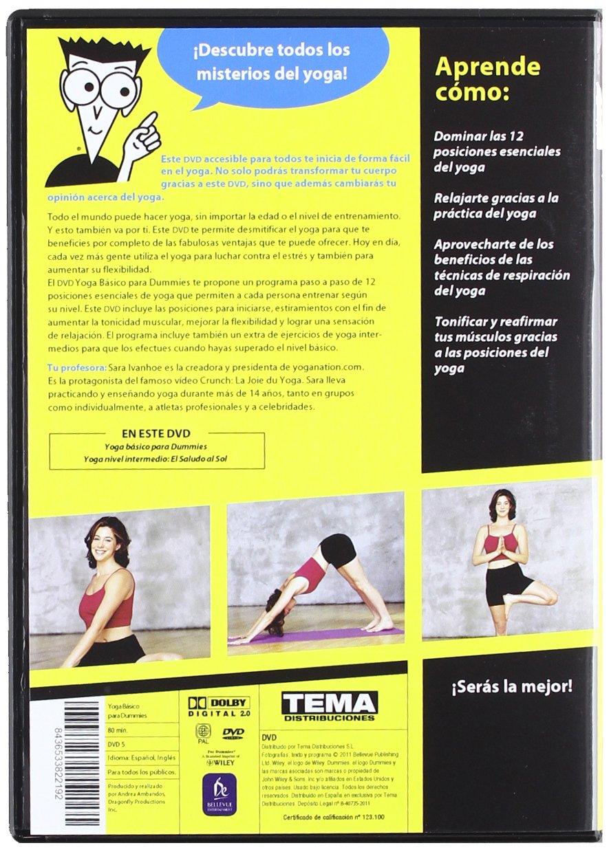 Yoga Básico Para Dummies [DVD]: Amazon.es: Sara Ivanhoe ...