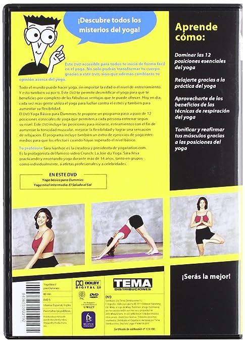 Yoga Básico Para Dummies  DVD   Amazon.es  Sara Ivanhoe  Cine y Series TV 8a8063061950
