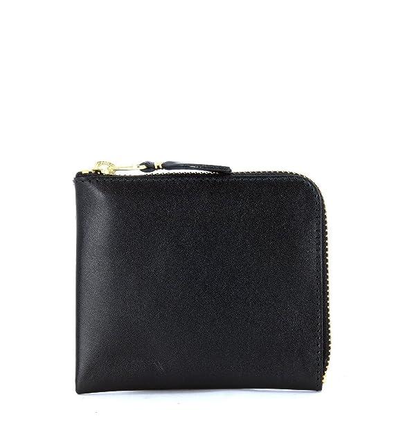 af002a7052 Bustina rettangolare Comme Des Garçons Wallet in pelle nera: Amazon ...