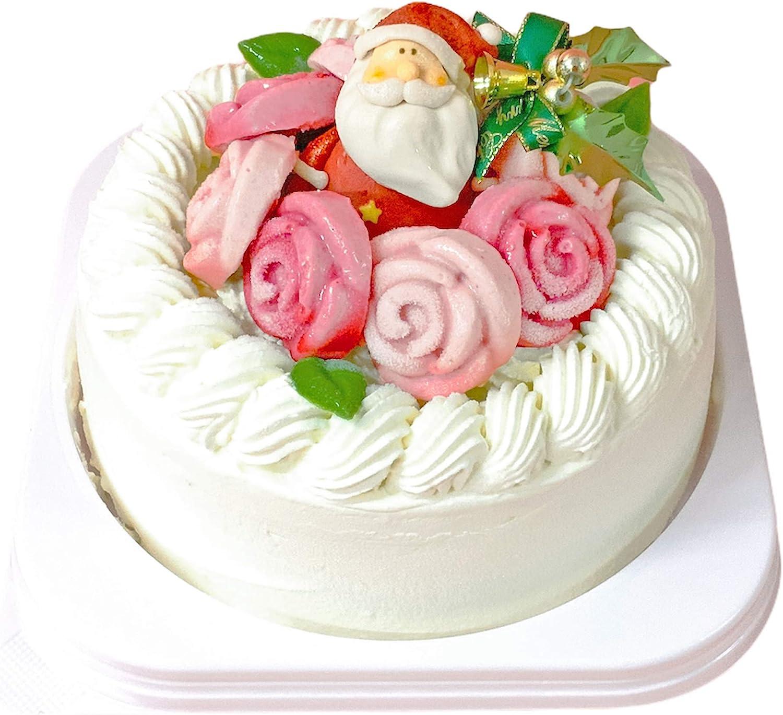Amazon 12月20日 27日お届け クリスマスケーキ ジュエルローズ 5号 ランジェラ デコレーションケーキ クリスマス いちご バラの ケーキ おしゃれ 可愛い 華やか 薔薇 ランジェラ ケーキ 洋菓子 通販