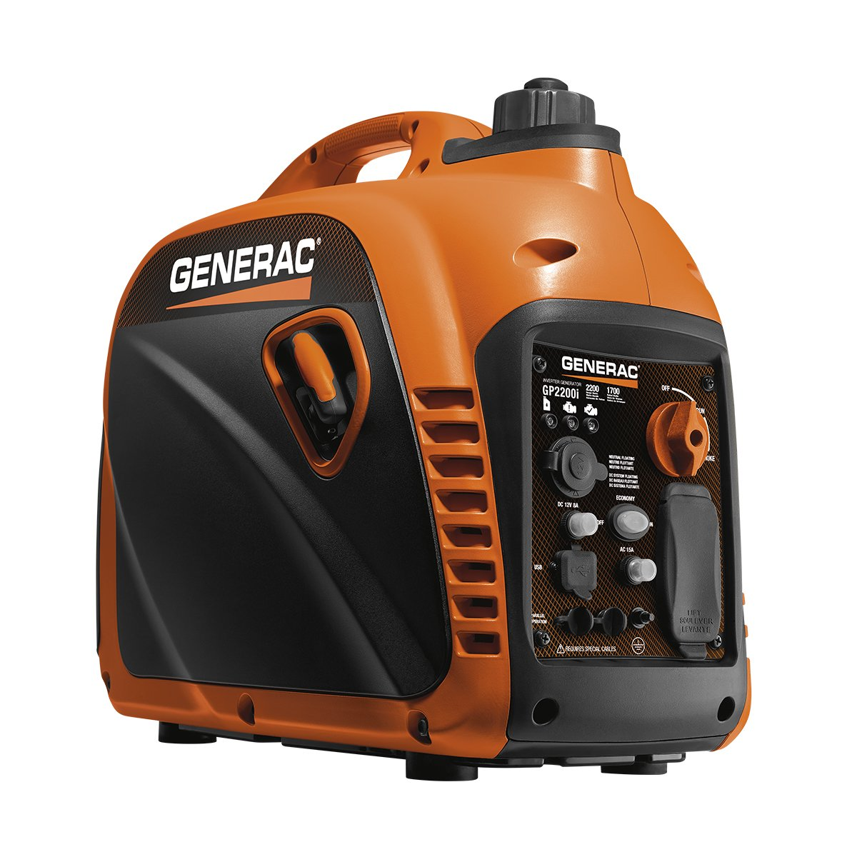 Generac 7117 GP2200i 2200 Watt Portable Inverter Generator - Parallel Ready by Generac