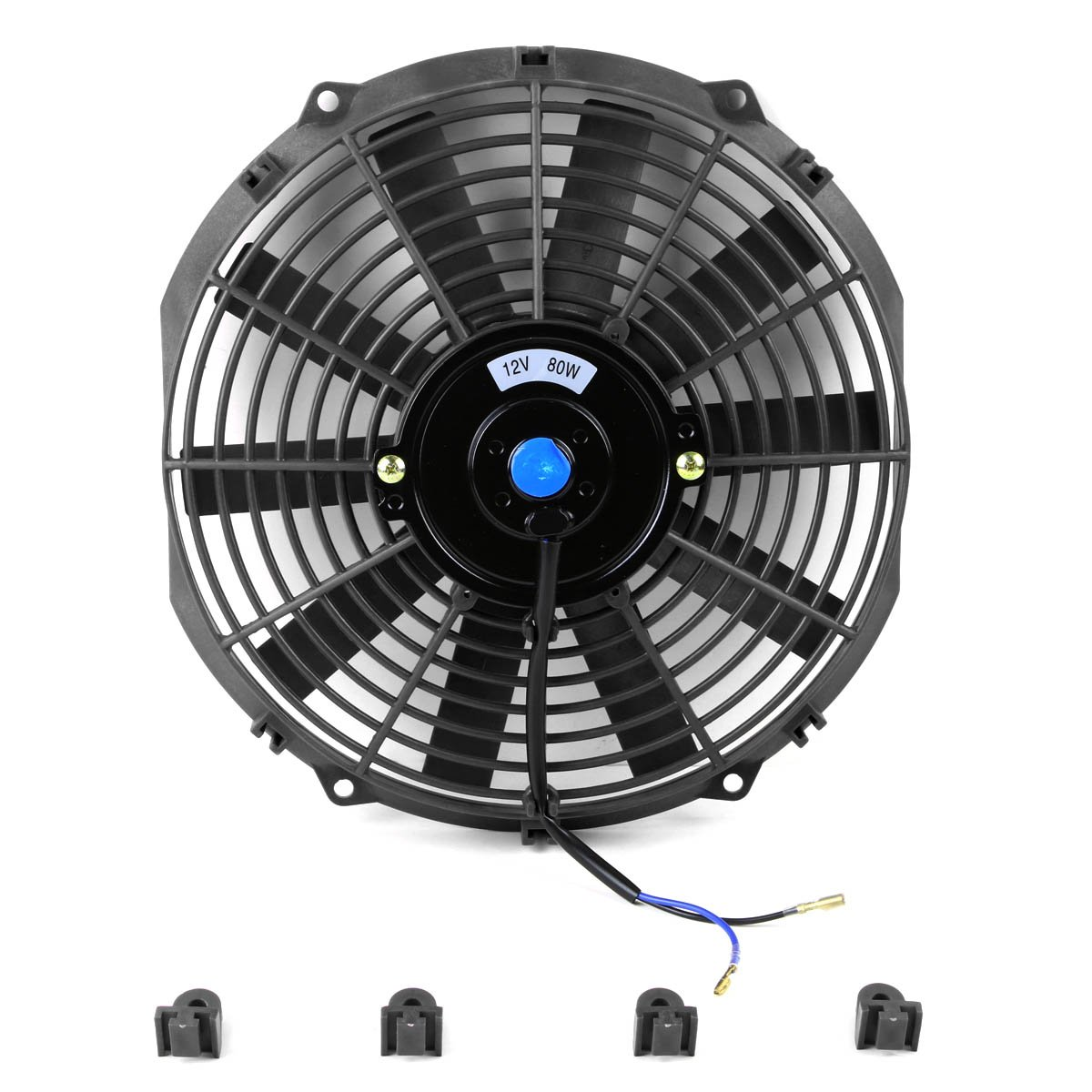 Amazon.com: 12 Inch High Performance Black Electric Radiator Cooling Fan  Kit (Pack of 2): Automotive