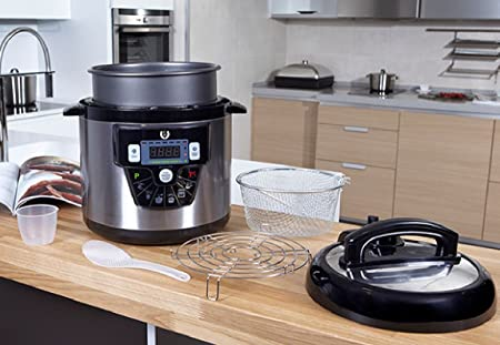 Robot de Cocina Progrmable con Voz y Memoria, con Sistema de detección de alimentos -Modelo E 10L: Amazon.es: Hogar