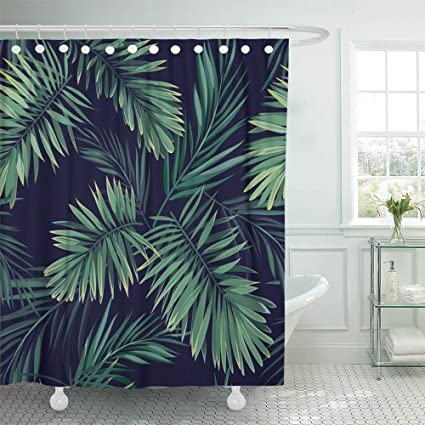 Amazon com: Emvency Shower Curtain 66x72 Inches Dark