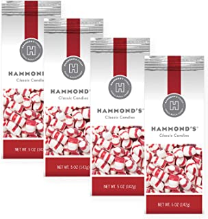 product image for Hammonds Old Fashioned Everyday Peppermint Puff Candies-4 Bags. Peppermint Puffs- Dinner Mints- Hard Candy. Traditional Peppermint Puffs Handmade in Small Batches-Proudly Made in Denver, Colorado USA