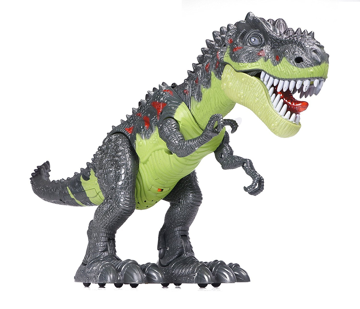 CifToys Tyrannosaurus Rex Dinosaur Walking Dinosaur Toys Kids Toy Realistic Jurassic Trex Dinosaur Action Toy Figure Walking Moving Glowing Dino Figure (Green) by CifToys (Image #2)