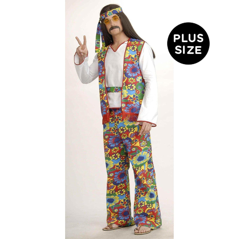 1eb60e002a0 Amazon.com  Hippie Man Plus Size Adult Costume  Clothing