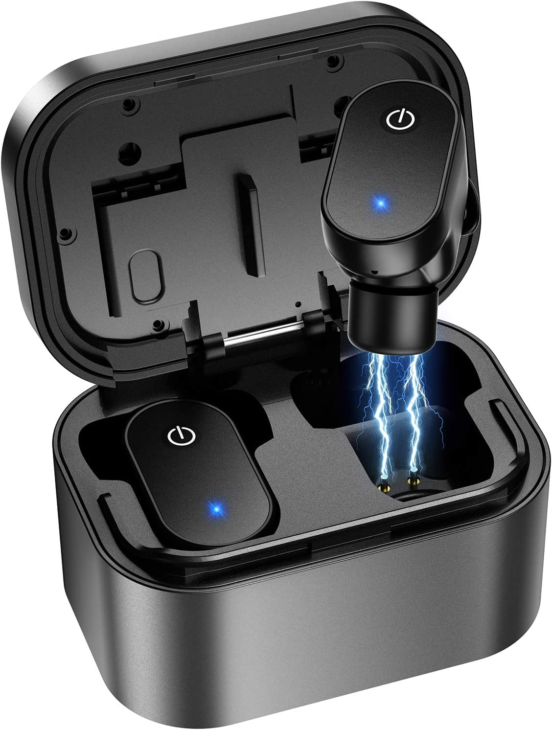 True Wireless Earbuds, Bluetooth 5.0 Headphones in-Ear with Wireless Charging Case, 24H Cycle Playtime, Built-in Mic Headset Premium Sound with Deep Bass for Sport