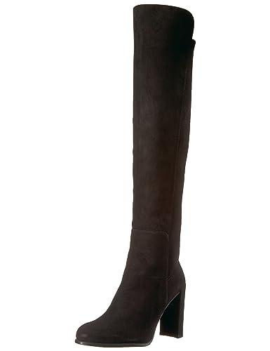 ae9fcc0aee8 Stuart Weitzman Women s ALLJILL Knee High Boot Black Suede 4.5 Medium US