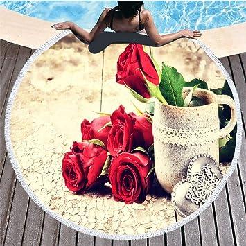 Amazon.com: SENHOOM Beach Towel Beach+Towels Round Beach ...