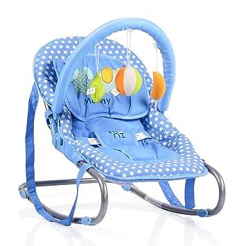 Inklusive abnehmbarem Spielbogen Babywippe BABY RELAX Blau